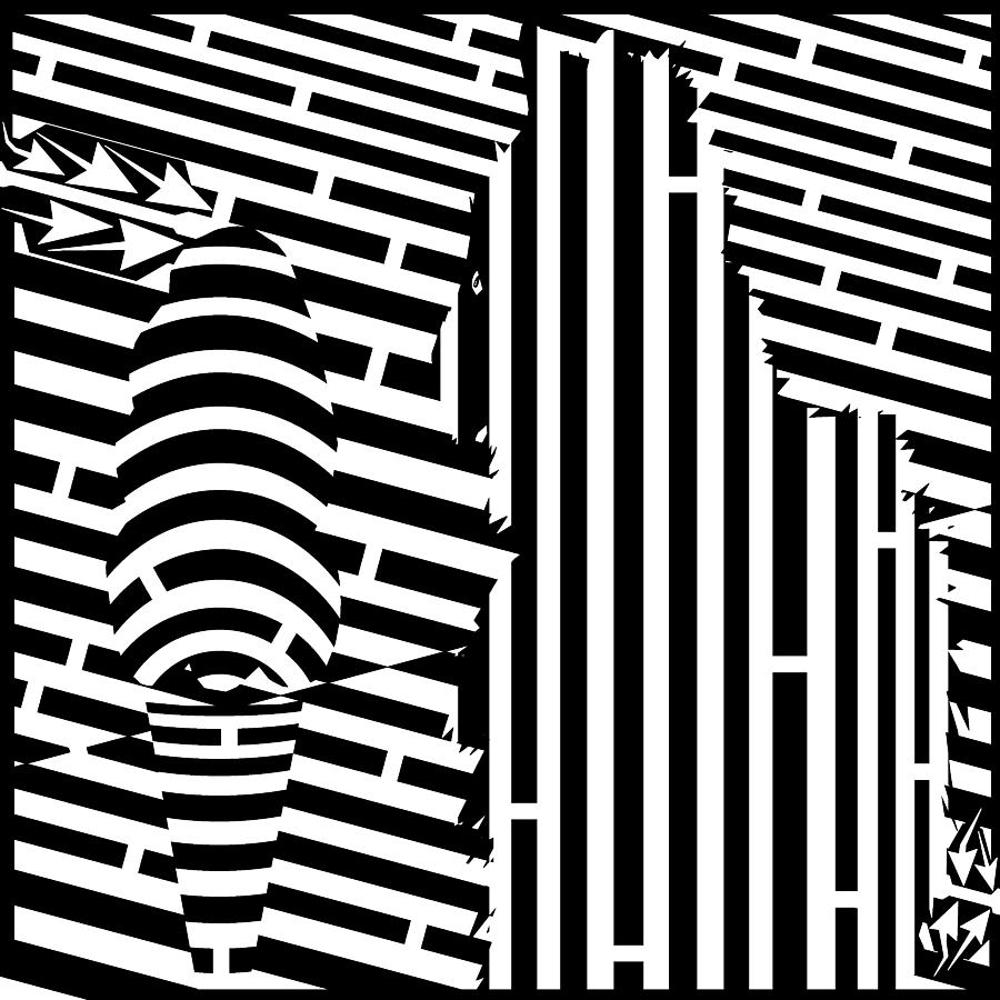 Maze Digital Art - Cat And The Ice Cream Cone Maze by Yonatan Frimer Maze Artist