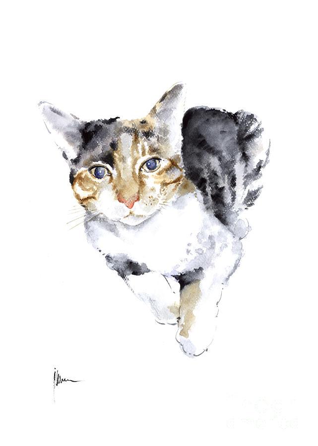 Cat Art Print in Watercolor