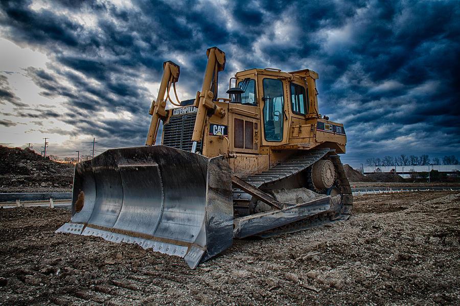 Bulldozer Photograph - Cat Bulldozer by Mike Burgquist