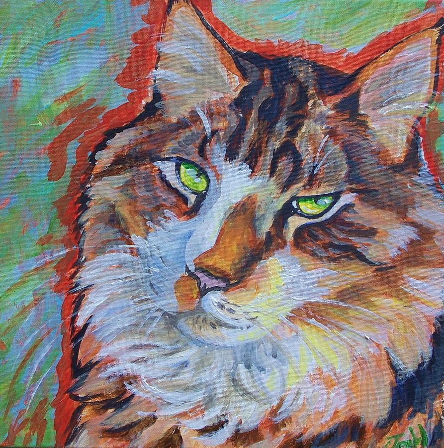 Cat Painting - Cat Commission by Jenn Cunningham