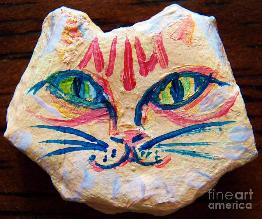 Cat Painting - Cat Rock by Judy Via-Wolff