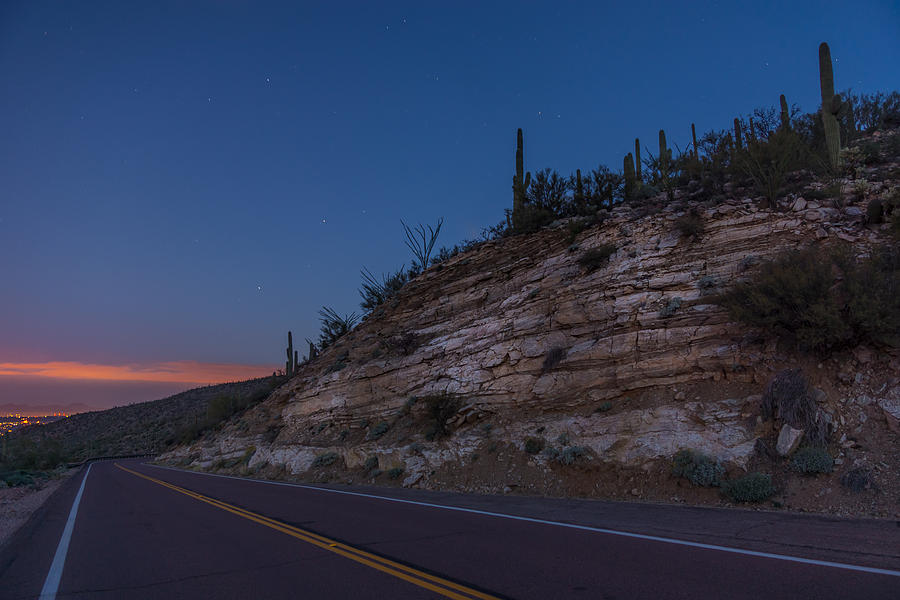 Catalina Highway Photograph - Catalina Highway Twilight by Chris Bordeleau