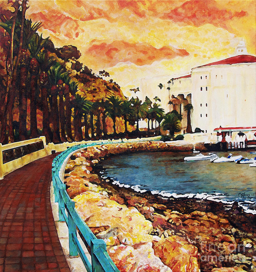 Catalina Island Painting - Catalina Island by Carrie Jackson