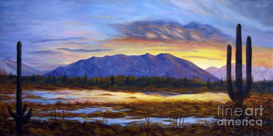 Sunrise Painting - Catalina Sunrise by Judy Filarecki