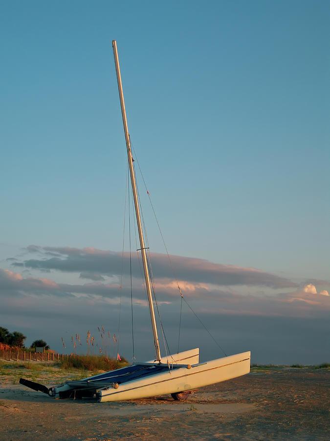 Catamaran On Beach Photograph by Joseph Shields
