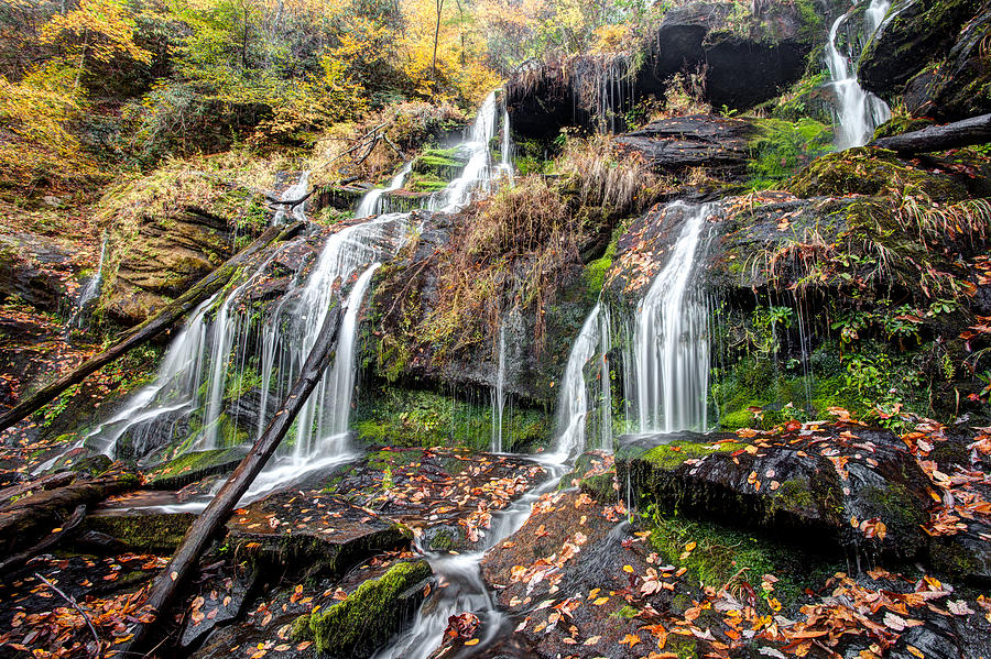 Waterfall Photograph - Catawba Falls by Scott Moore