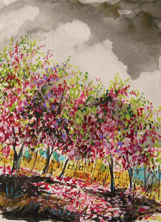 Blooming Trees Painting - Catbird Haven by John Williams