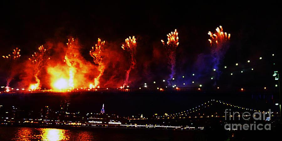 Fireworks Photograph - Catch A Fire by Kendall Eutemey