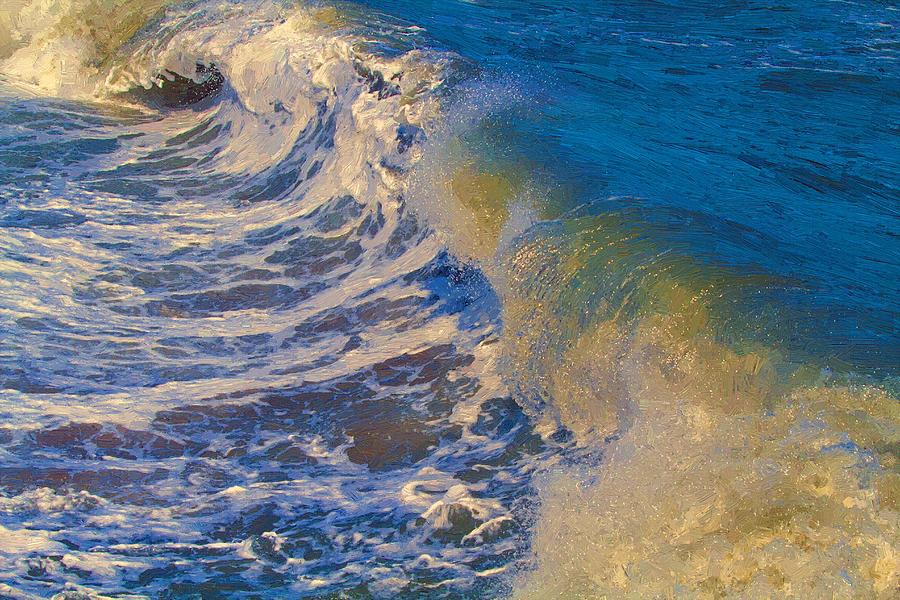 Ocean Painting - Catch A Wave by John Haldane