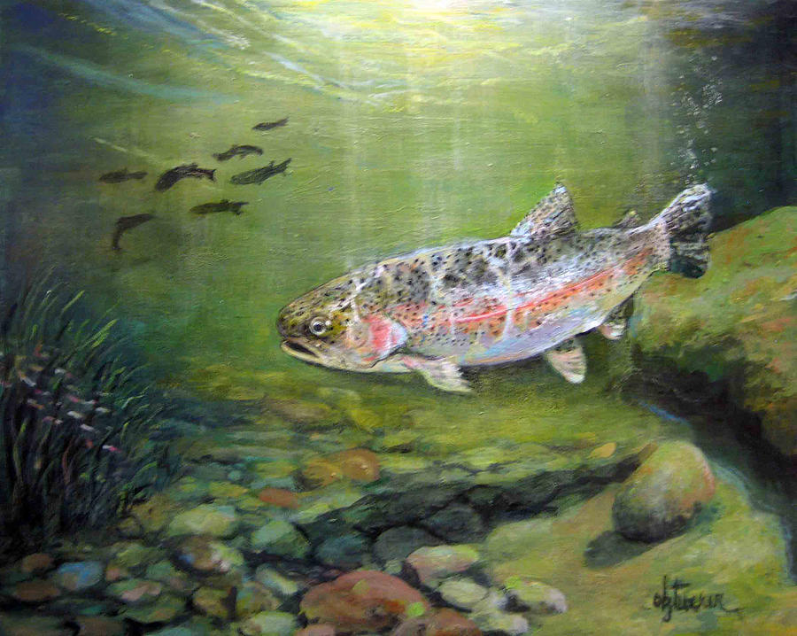 Nature Painting - Catch It by Donna Tucker
