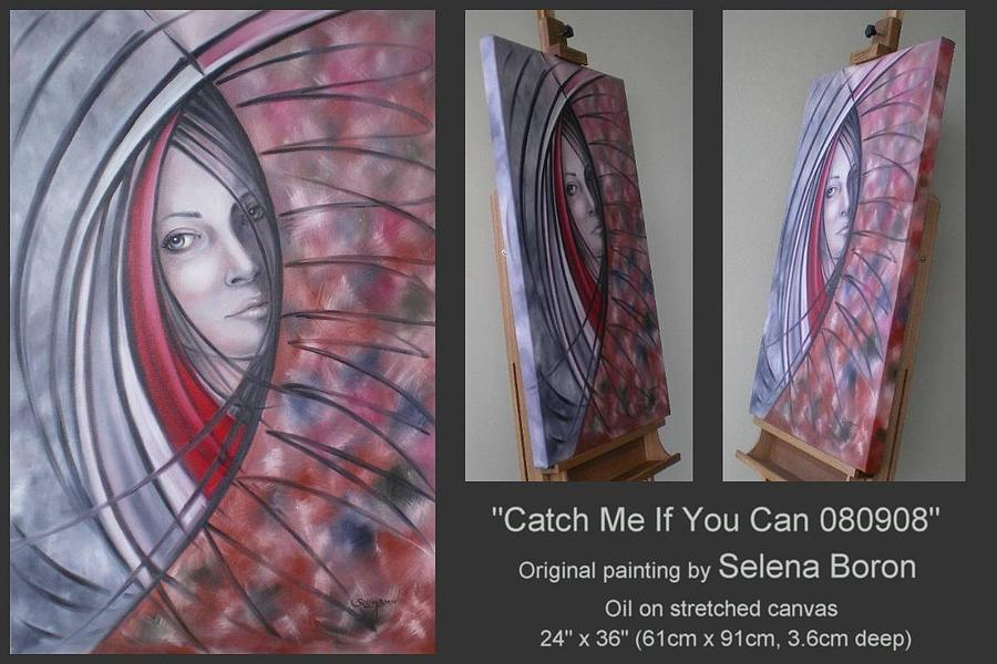 Original Painting - Catch Me If You Can 080908 by Selena Boron