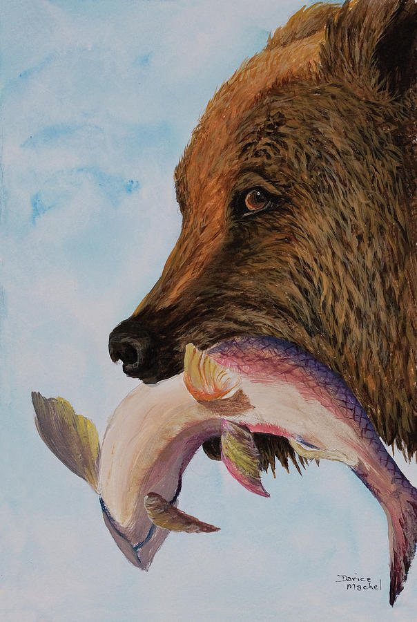 Animal Painting - Catch Of The Day by Darice Machel McGuire