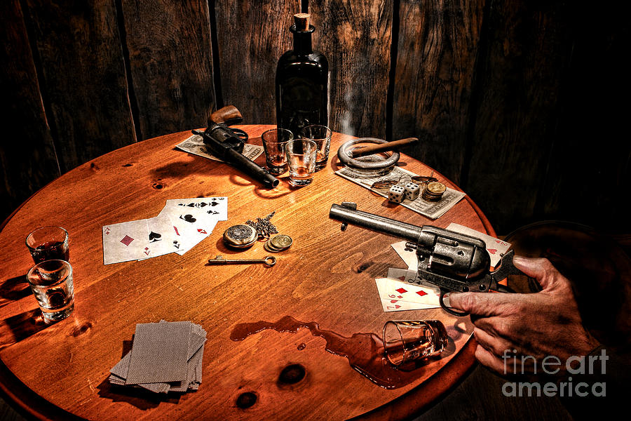 Poker Photograph - Catching A Cheater by Olivier Le Queinec