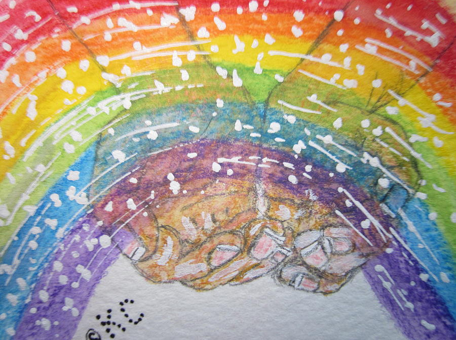 Rainbow Painting - Catching A Rainbbow by Kathy Marrs Chandler