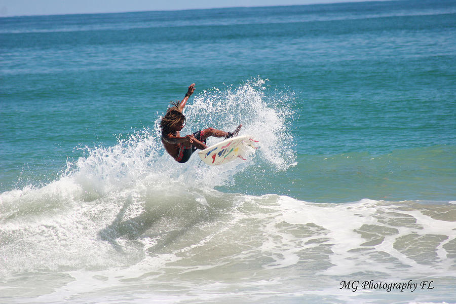 Surf Photograph - Catching Air by Marty Gayler
