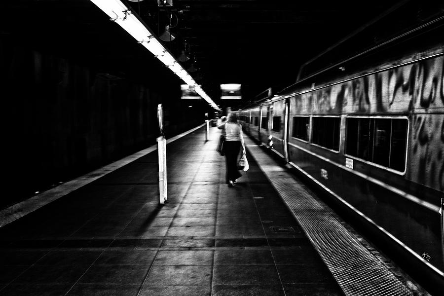 Trains Photograph - Catching The Five Thirty by Karol Livote