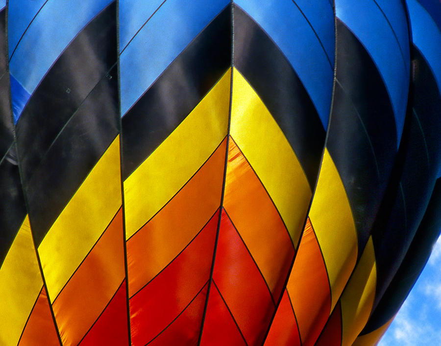Hot Air Balloon Digital Art - Catching The Light And The Wind by Ken Evans