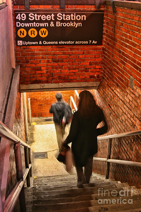 City Photograph - Catching The Subway by Karol Livote