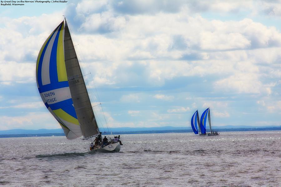Sailing Photograph - Catching The Wind by Michelle and John Ressler
