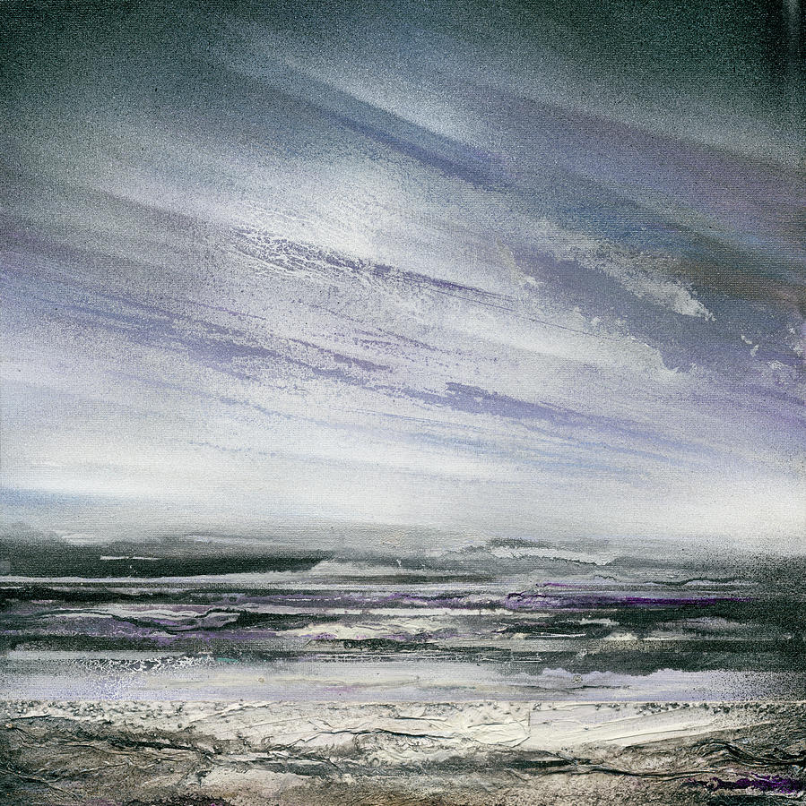 Winter Mixed Media - Catclough Reservoir Winter Rythms And Textures by Mike   Bell