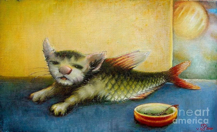 Catfish Painting by Vsevolod Poliohin