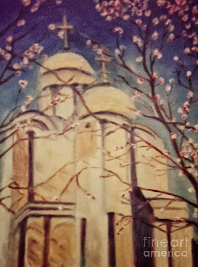 Dc Painting - Cathedral At Springtime by Karen Francis