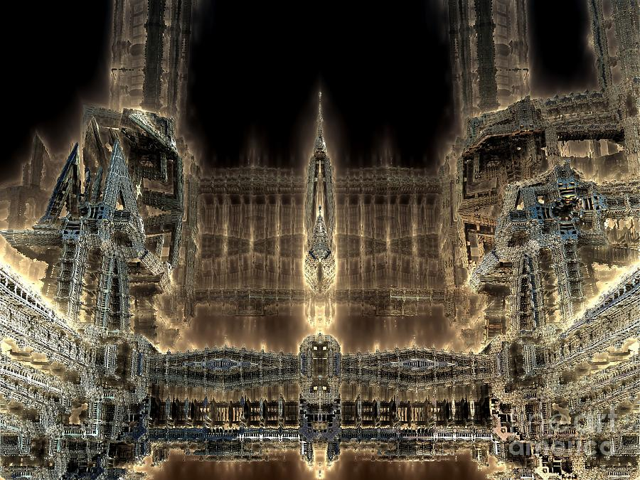 Digital Digital Art - Cathedral By Night by Bernard MICHEL