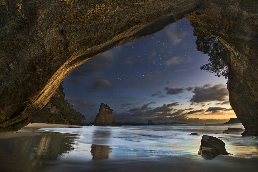 Landscape Photograph - Cathedral Cove by Yan Zhang