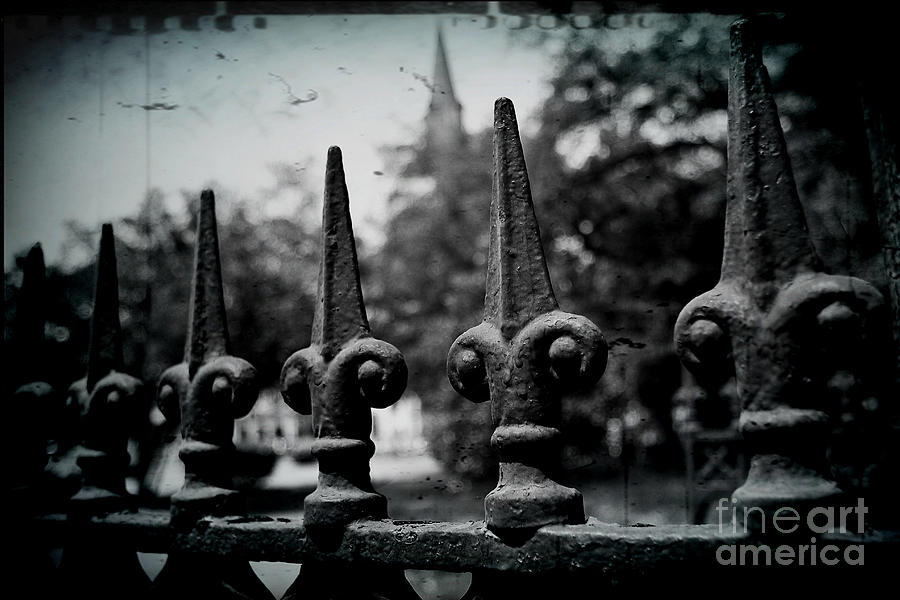 Wrought Iron Photograph - Cathedral Fence by Scott Pellegrin