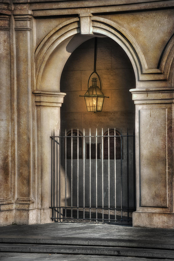 French Quarter Photograph - Cathedral Gate by Brenda Bryant