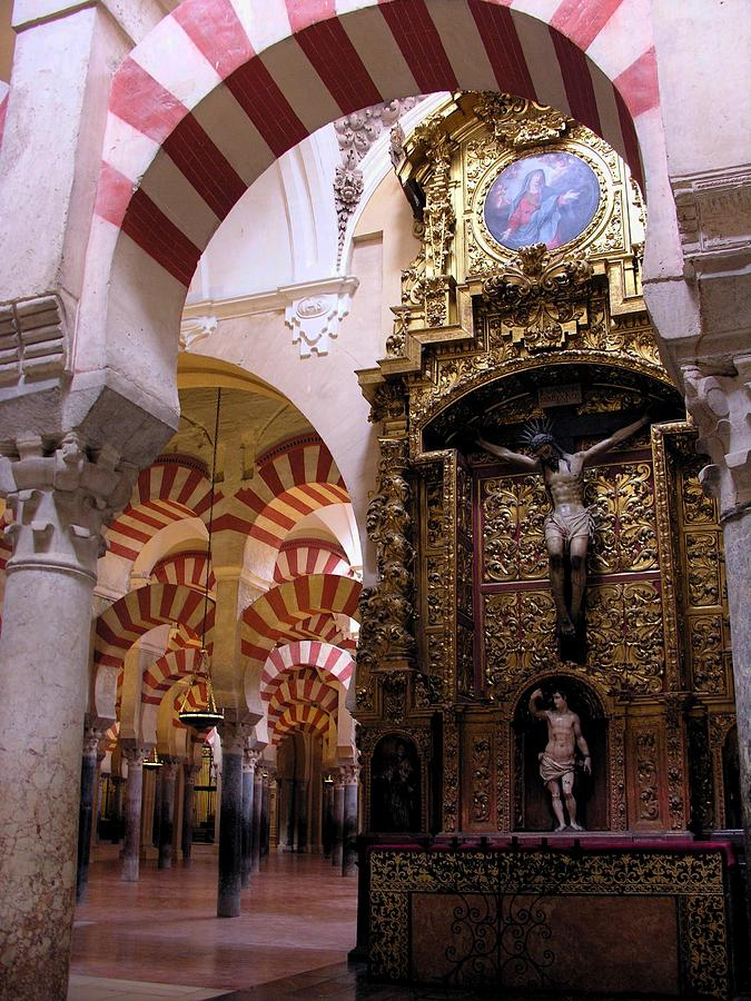 Cordoba Photograph - Cathedral In Mezquita by Jacqueline M Lewis