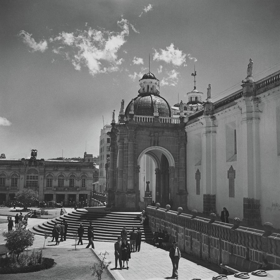 Cathedral In Plaza Mayor Photograph by Horst P. Horst