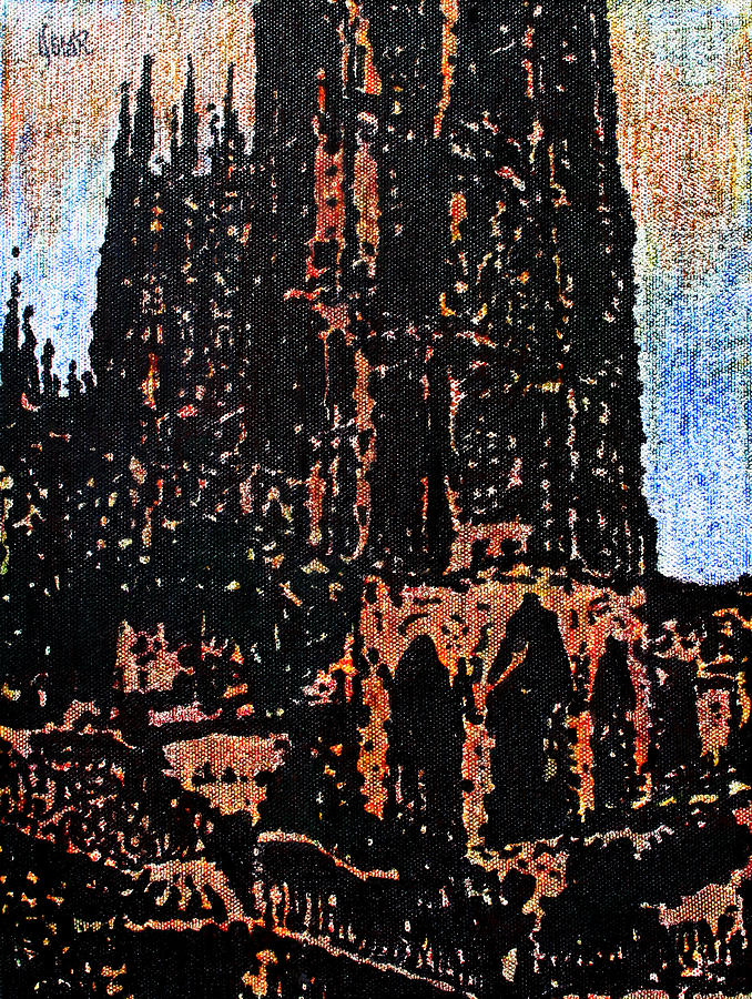 Art Painting - Cathedral In Spring by Oscar Penalber