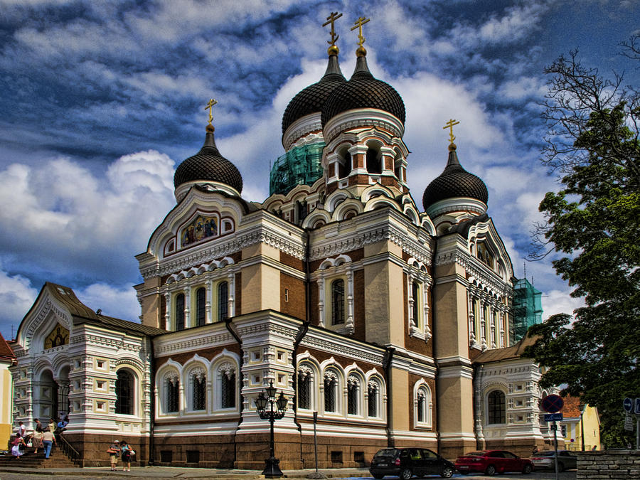 City Photograph - Cathedral In Tallinn by David Smith