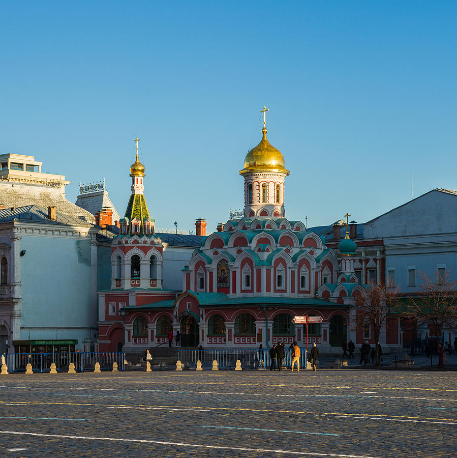 Architecture Photograph - Cathedral Of Our Lady Of Kazan - Square by Alexander Senin
