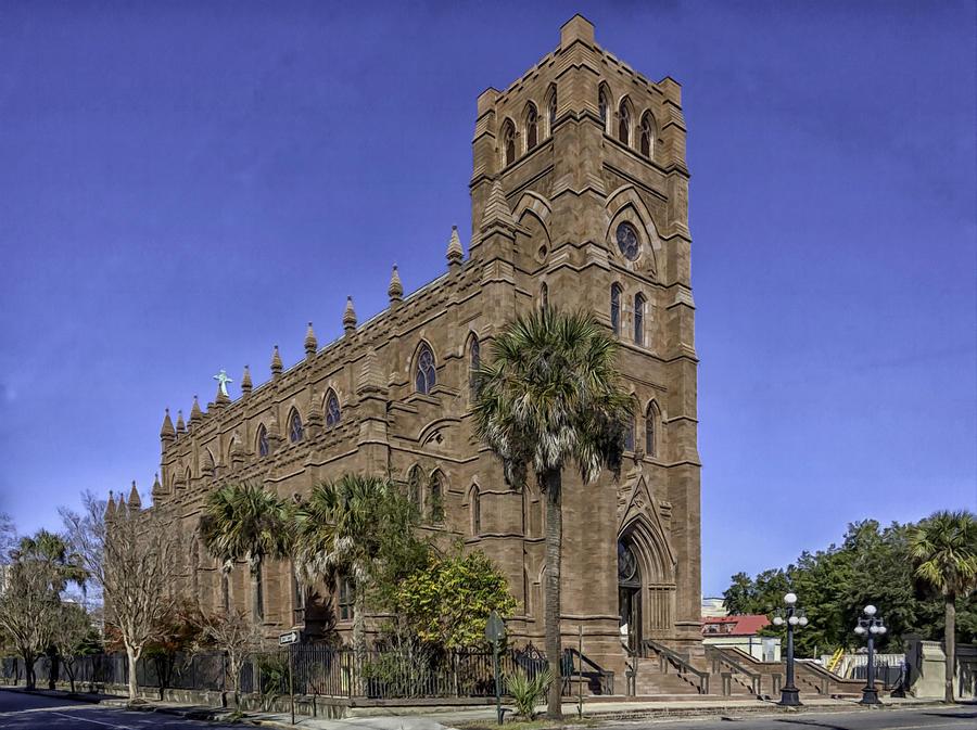 Church Photograph - Cathedral Of St. John The Baptist Charleston by Lynn Palmer