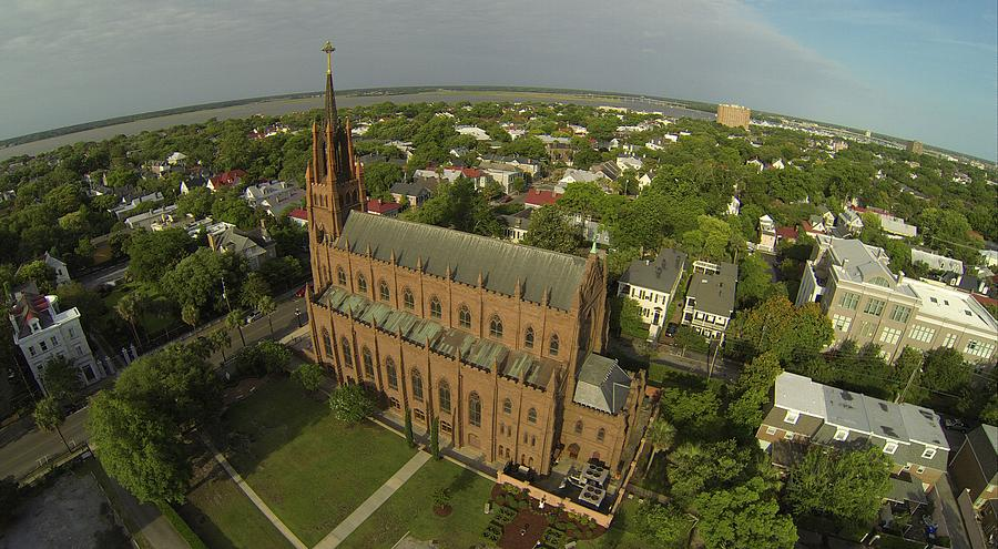 Charleston Photograph - Cathedral of St John the Baptist by Rick Lecture