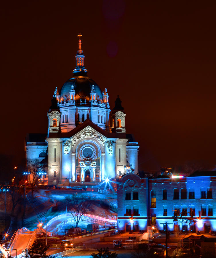 Cathedral Photograph - Cathedral Of St Paul All Dressed Up For Red Bull Crashed Ice by Wayne Moran