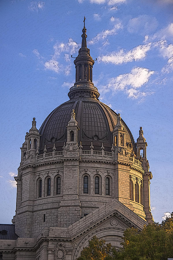 Cathedral Photograph - Cathedral Of St. Paul Sunset by T C Hoffman