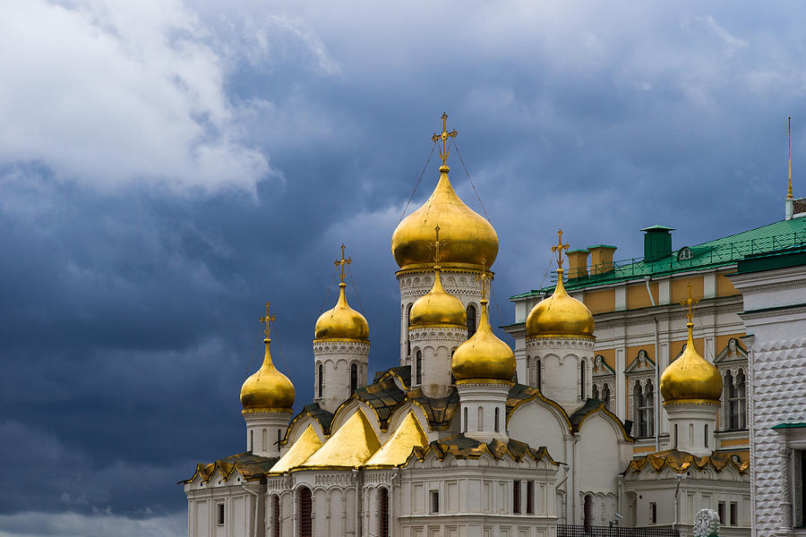 Annunciation Photograph - Cathedral Of The Annunciation Of Moscow Kremlin by Alexander Senin