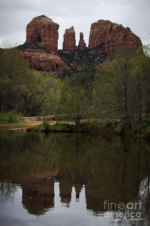 Cathedral Photograph - Cathedral Rock And Reflection by Dave Gordon