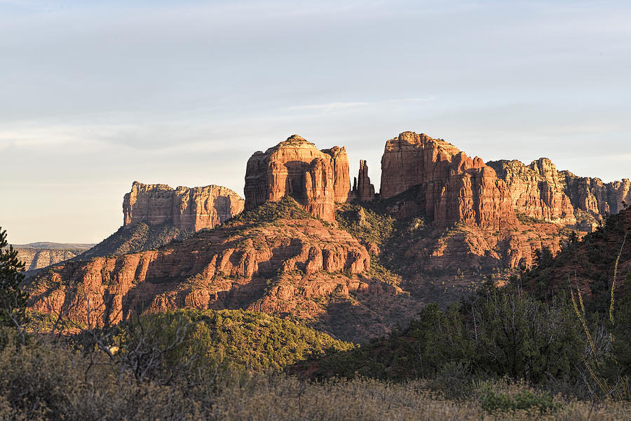 Cathedral Rock Photograph - Cathedral Rock At Sunset by Mike Herdering