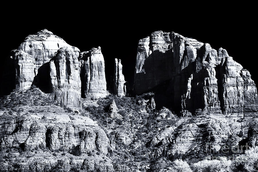 Cathedral Rock Photograph - Cathedral Rock Shadows by John Rizzuto