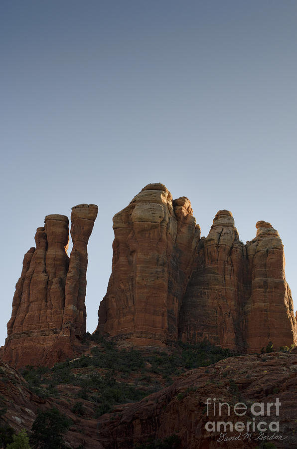 Cathedral Photograph - Cathedral Rock Spires by Dave Gordon