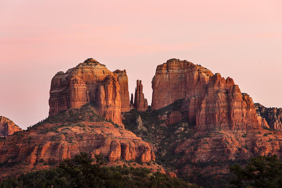 Sedona Photograph - Cathedral Rock Sunset by Mary Jo Allen