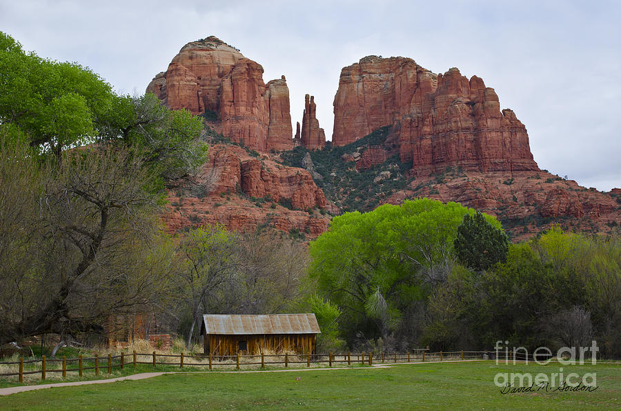 Cathedral Photograph - Cathedral Rock V by Dave Gordon