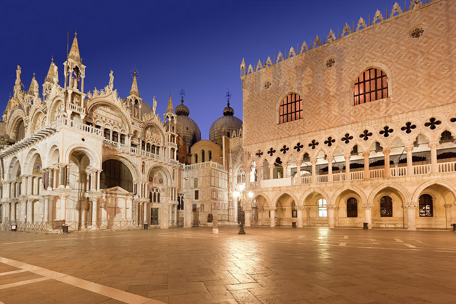 Cathedral St Marks Square Doges Palace Photograph by Grafissimo
