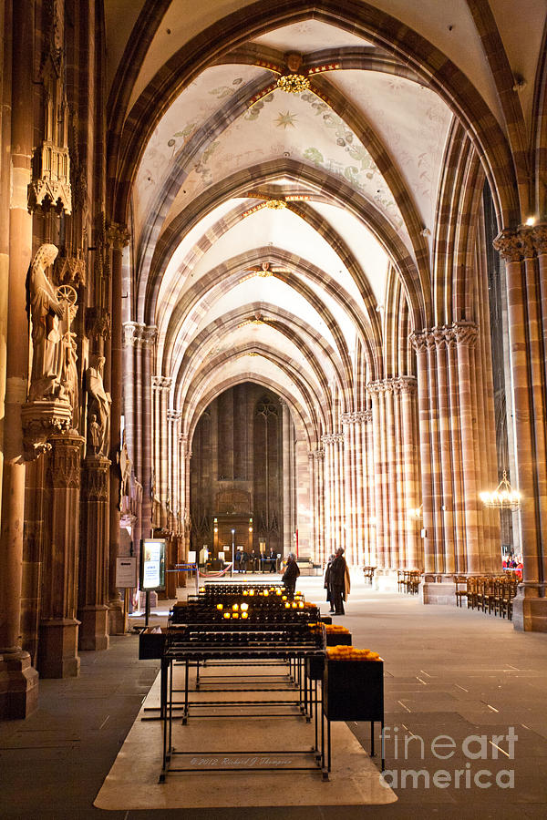 Cathedrale Notre Dame de Strasbourg France by Richard J Thompson