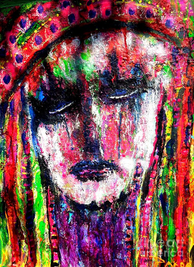 Abstract Painting - Catherine De Medici by Darlyne Sax