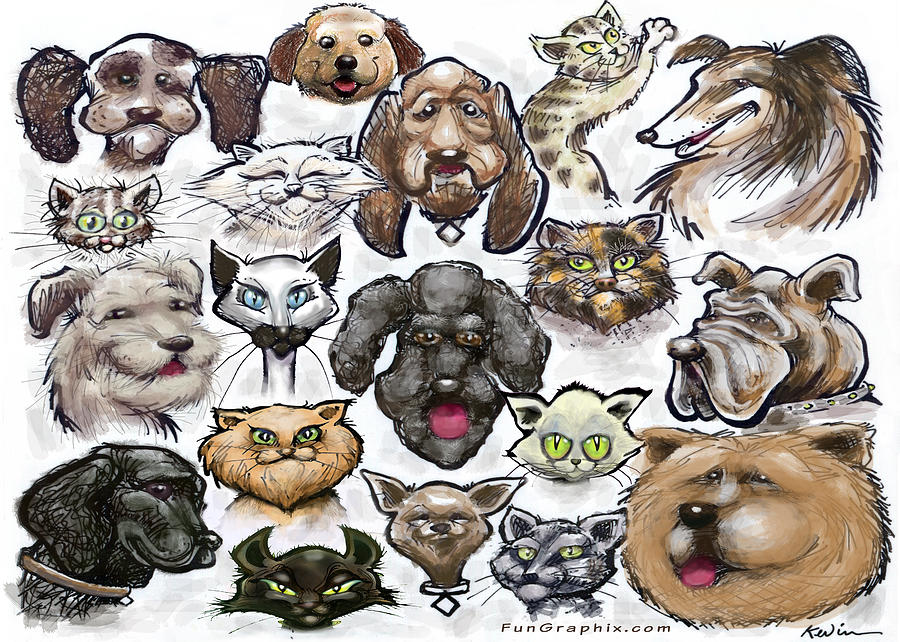 Cats N Dogs Digital Art